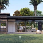 แบบบ้านชั้นเดียวทรงหน้ากว้าง สไตล์มินิมอลตอบโจทย์ไลฟ์สไตล์คนรุ่นใหม่ 1 ห้องนอน 1 ห้องน้ำ พื้นที่ 75 ตร.ม.