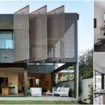 บ้านสองชั้นสไตล์ร่วมสมัย โทนสีเรียบง่าย ดีไซน์โปร่งโล่ง ด้วยการเน้นช่องแสงช่องลมอย่างมีมิติ
