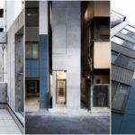 พาชมตึกออฟฟิศหน้าแคบ ท่ามกลางสองอาคารขนาบข้าง ในย่านกินซ่าของจังหวัดโตเกียว
