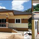 บ้านชั้นเดียวสไตล์คอนเทมโพรารี ตกแต่งด้วยโทนสีเหลืองอบอุ่น 2 ห้องนอน 1 ห้องน้ำ พร้อมเฉลียงเปิดโล่ง