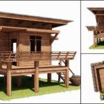 แบบบ้านไม้ขนาดเล็ก 1 ห้องนอน 1 ห้องน้ำ กลิ่นอายบ้านทรงไทย พื้นที่ใช้สอย 52.65 ตร.ม.