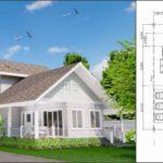 แบบบ้านสองชั้นสไตล์วินเทจ โทนสีขาว พร้อมเฉลียงถึงสองแห่ง 2 ห้องนอน 2 ห้องน้ำ พื้นที่ 118 ตร.ม.