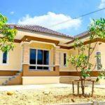 บ้านไทยประยุกต์ชั้นเดียว ตกแต่งด้วยโทนสีเหลือง-น้ำตาล บรรยากาศอบอุ่น เรียบง่าย สำหรับครอบครัวใหญ่