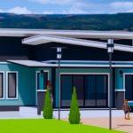 บ้านโมเดิร์นชั้นเดียว โทนสีฟ้าสดใส กลมกลืนกับธรรมชาติ 2 ห้องนอน 1 ห้องน้ำ