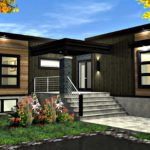 แบบบ้านโมเดิร์นรูปทรงตัวแอล (L-Shaped House) ฟังก์ชันลงตัวสำหรับครอบครัวขนาดเล็ก 2 ห้องนอน 1 ห้องน้ำ พื้นที่ใช้สอย 87 ตร.ม.