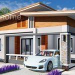 แบบบ้านชั้นเดียวสไตล์โมเดิร์น ออกแบบเรียบง่ายทันสมัย พร้อมที่จอดรถ พื้นที่ 100 ตร.ม.