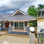 บ้านชั้นเดียวหน้ากว้างทรงไทยประยุกต์ โทนสีฟ้าอมเทา 3 ห้องนอน 2 ห้องน้ำ พื้นที่ใช้สอย 143 ตร.ม.
