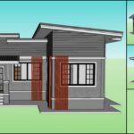 แบบบ้านชั้นเดียวสไตล์โมเดิร์น โทนสีเทา รูปทรงตัวแอล (L-Shaped House) 2 ห้องนอน 2 ห้องน้ำ พื้นที่ใช้สอย 94 ตร.ม.