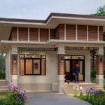 แบบบ้านชั้นเดียว ดีไซน์โมเดิร์นยกพื้นสูง 3 ห้องนอน 2 ห้องน้ำ พื้นที่ใช้สอย 99 ตร.ม.