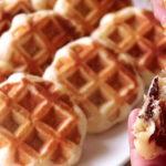 """ของว่างน่าทาน """"วาฟเฟิลเบลเยี่ยมไส้คัสตาร์ดช็อคโกแลต"""" ทำง่ายและอร่อยมาก"""