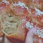 """เบเกอรี่หอมๆ """"ขนมปังกาแฟ"""" หอมกลิ่นกาแฟตั้งแต่ตอนนวด ปาดเนยทานตอนอุ่นๆ อร่อยมาก"""