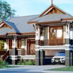 แบบบ้านชั้นครึ่งสไตล์ไทยประยุกต์ สวยเด่นด้วยหลังคามะนิลา 3 ห้องนอน 2 ห้องน้ำ พื้นที่ใช้สอย 126.50 ตร.ม.
