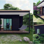 บ้านน็อคดาวน์สไตล์โมเดิร์นขนาดสุดกะทัดรัด 1 ห้องนอน 1 ห้องน้ำ พื้นที่ใช้สอย 18 ตารางเมตร งบประมาณ 249,000 บาท
