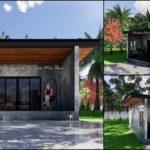 แบบบ้านชั้นเดียวขนาดเล็ก สไตล์โมเดิร์นปูนเปลือย พร้อมเฉลียงหน้าบ้านใช้งานเอนกประสงค์ 1 ห้องนอน 1 ห้องน้ำ งบประมาณ 420,000 บาท