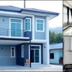 บ้านสองชั้นคอนเทมโพรารี ดีไซน์เรียบง่าย ภายในโปร่งโล่ง 4 ห้องนอน 3 ห้องน้ำ พื้นที่ใช้สอย 165 ตารางเมตร
