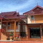 บ้านชั้นเดียวเล่นระดับทรงไทยประยุกต์ 3 ห้องนอน 3 ห้องน้ำ พร้อมห้องกระจก พื้นที่ใช้สอย 180 ตร.ม.