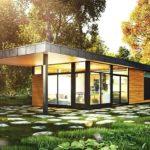 บ้านโมเดิร์นทรงกล่อง ดีไซน์เรียบง่ายท่ามกลางธรรมชาติอันเงียบสงบ 2 ห้องนอน 1 ห้องน้ำ พื้นที่ใช้สอย 65 ตร.ม.