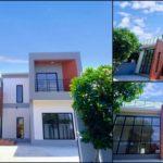 บ้านสองชั้นสไตล์โมเดิร์น ดีไซน์ทรงกล่อง 3 ห้องนอน 3 ห้องน้ำ พร้อมดาดฟ้ากว้างรองรับกิจกรรมกลางแจ้ง