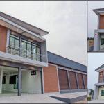 แบบอาคารพาณิชย์สไตล์โมเดิร์น พื้นที่ใช้สอยกว้างขวาง เป็นได้ทั้งสถานประกอบการและบ้านพักอาศัย 3 ห้องนอน 4 ห้องน้ำ