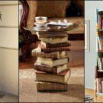 """10ไอเดีย """"รีไซเคิลหนังสือเก่า"""" ให้เป็นเฟอร์นิเจอร์และของแต่งบ้าน หลากหลายการใช้งานด้วยไอเดียที่ไม่ซ้ำใคร"""