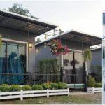 บ้านน็อคดาวน์ขนาดเล็ก สำหรับเป็นบ้านพักตาอากาศหรือรีสอร์ท 1 ห้องนอน 1 ห้องน้ำ พื้นที่ใช้สอย 15 ตร.ม.