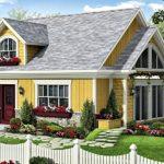 แบบบ้านฟาร์มเฮ้าส์สีเหลืองสดใส บรรยากาศอบอุ่น กรุ่นไปด้วยกลิ่นอายท้องทุ่งชนบท