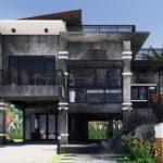 บ้านสองชั้นสไตล์โมเดิร์นลอฟท์ ออกแบบใต้ถุนยกสูง 3 ห้องนอน 3 ห้องน้ำ พร้อมชั้นดาดฟ้าเพื่อการพักผ่อน
