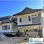 บ้านขนาดชั้นครึ่งทรงไทยประยุกต์3 ห้องนอน 3 ห้องน้ำ พร้อมใต้ถุนยกสูง พื้นที่ใช้สอย 219 ตร.ม.