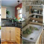 """30 ไอเดีย """"ซิงค์ล้างจานเข้ามุม"""" เพื่อการใช้งานที่สะดวกคล่องแคล่ว และช่วยประหยัดพื้นที่ในห้องครัว"""
