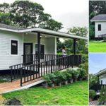 บ้านน็อคดาวน์ยกพื้นสไตล์คอทเทจ 1 ห้องนอน 1 ห้องน้ำ พร้อมทางลาดเพื่อผู้สูงอายุ พื้นที่ใช้สอย 64 ตารางเมตร