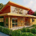 แบบบ้านไม้ชั้นเดียวสไตล์โมเดิร์น ดีไซน์โปร่งโล่ง ตกแต่งอบอุ่น 2 ห้องนอน 2 ห้องน้ำ พื้นที่ใช้สอย 74 ตร.ม.