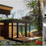 บ้านพักตากอากาศหลังเล็ก สไตล์โมเดิร์น 2 ห้องนอน 1 ห้องน้ำ พื้นที่ใช้สอย 89 ตารางเมตร