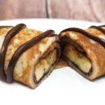 """แบ่งปันสูตร """"เครปกล้วยหอม"""" เนื้อแป้งเหนียวนุ่ม หอมหวานกำลังดี ราดด้วยช็อกโกแลตเข้มข้น"""
