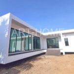 บ้านโมเดิร์นสีขาวทรงตัวแอล (L-Shaped House) 3 ห้องนอน 3 ห้องน้ำ พื้นที่ใช้สอย 162 ตร.ม.