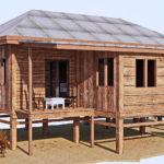 แบบบ้านไม้ยกใต้ถุนสไตล์ชนบท 3 ห้องนอน 1 ห้องน้ำ พร้อมระเบียงและเฉลียงรับแขกด้านนอก