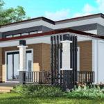 แบบบ้านชั้นเดียวสไตล์โมเดิร์นดีไซน์หน้ากว้าง 3 ห้องนอน 1 ห้องน้ำ พื้นที่ 130 ตร.ม.