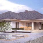 แบบบ้านชั้นเดียวหน้ากว้าง ดีไซน์คอนเทมโพรารี 4 ห้องนอน 3 ห้องน้ำ พื้นที่ใช้สอย 199.04 ตร.ม.