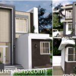 แบบบ้านสองชั้นโมเดิร์น รูปทรงกล่อง 3 ห้องนอน 4 ห้องน้ำ พร้อมโฮมออฟฟิศในตัว