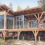 แบบบ้านไม้ทรงโมเดิร์นยกใต้ถุนสูง พร้อมระเบียงกว้าง ดีไซน์เพื่อการพักผ่อนกลางธรรมชาติ