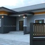 บ้านชั้นเดียวสไตล์โมเดิร์น ทรงตัวแอล ดีไซน์หน้ากว้าง 2 ห้องนอน 1 ห้องน้ำ สำหรับครอบครัวเริ่มต้น