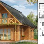 แบบบ้านไม้ทรงจั่วสไตล์คันทรี 2 ห้องนอน 1 ห้องน้ำ พื้นที่ใช้สอย 63 ตารางเมตร