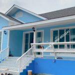 บ้านคอทเทจสีฟ้าสดใส 2 ห้องนอน 1 ห้องน้ำ ขนาดกะทัดรัด สำหรับครอบครัวแรกเริ่ม