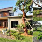 """""""บ้านสวนทรงโมเดิร์น"""" พร้อมสวนหน้าบ้าน รายล้อมไปด้วยธรรมชาติและบรรยากาศสุดอบอุ่น"""