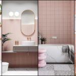"""34 ไอเดีย """"ห้องน้ำโทนสีชมพู"""" สีสันสดใส ดีไซน์สวยงาม ไม่น่าเบื่อ"""